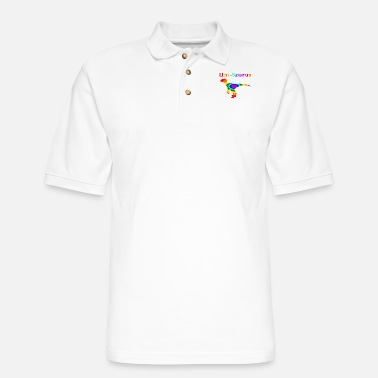 Uni Uni Saurus - Men's Pique Polo Shirt