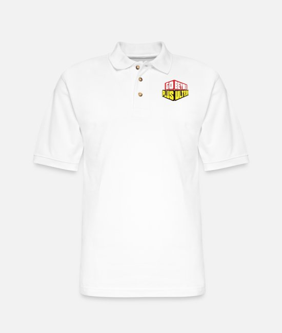 My Hero Academia Polo Shirts - Go Beyond! Plus Ultra! - Men's Pique Polo Shirt white