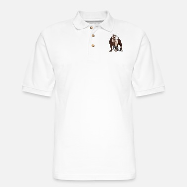 Doggie School Pit - Men's Pique Polo Shirt