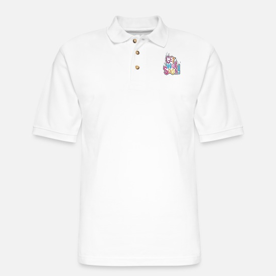 Well Polo Shirts - Get Well Soon Full color - Men's Pique Polo Shirt white
