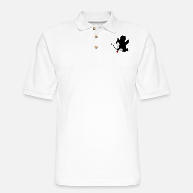 Cupid heart-valentines-day-love-amour-cupid-amour-shape - Men's Pique Polo Shirt