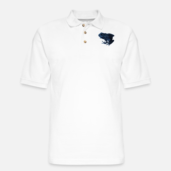 Frog Polo Shirts - frog - Men's Pique Polo Shirt white