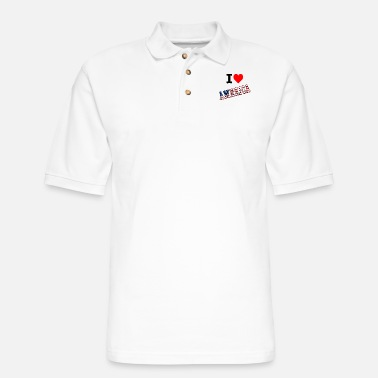 America I love America - Men's Pique Polo Shirt