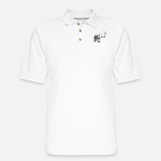 Christmas Polo Shirts - turtle - Men's Pique Polo Shirt white