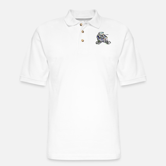 Airsoft Polo Shirts - Paintball - Men's Pique Polo Shirt white