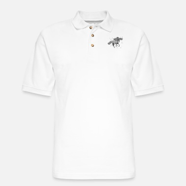 Grey Unicorn - grey - Men's Pique Polo Shirt