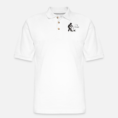 Clean What It Is I m clean - Men's Pique Polo Shirt