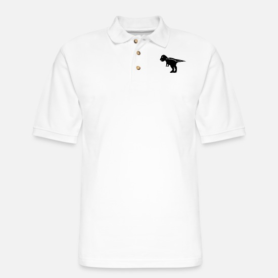 Primeval Times Polo Shirts - Dinosaur - Men's Pique Polo Shirt white