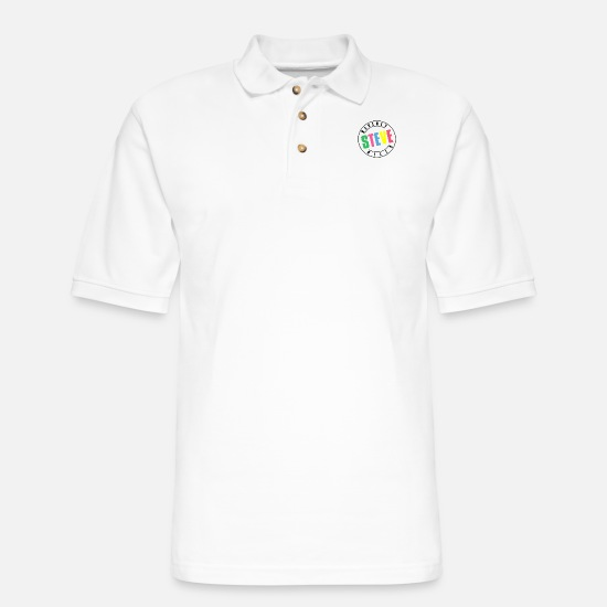 90210 Polo Shirts - Beverly Hills Steve - Men's Pique Polo Shirt white