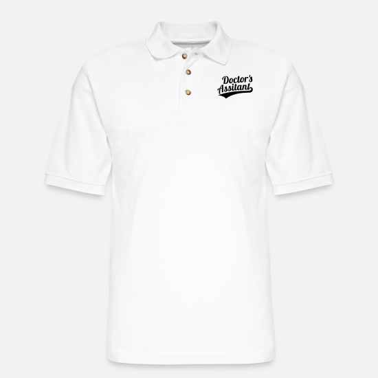 Practice Polo Shirts - Doctor's assistant - Men's Pique Polo Shirt white