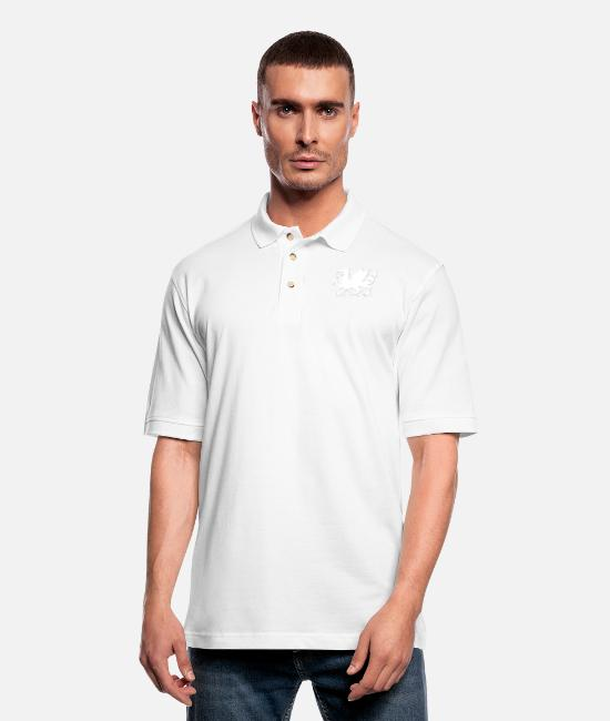 Dragonfly Polo Shirts - Dragon Dragon Dragon - Men's Pique Polo Shirt white