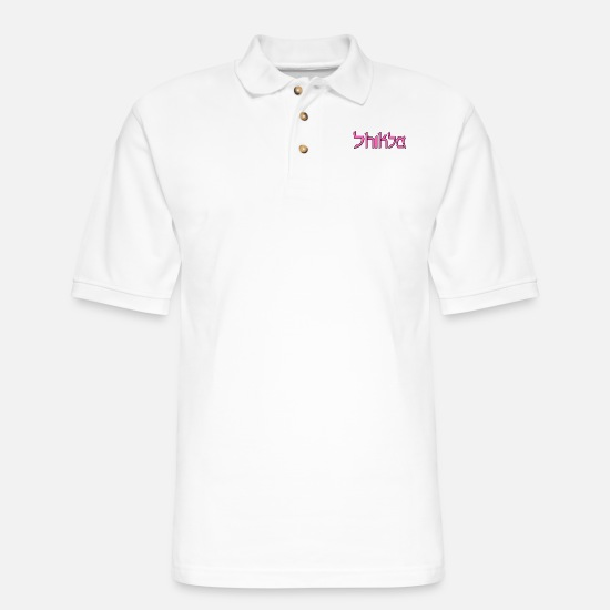 Slut Polo Shirts - Shiksa - Men's Pique Polo Shirt white