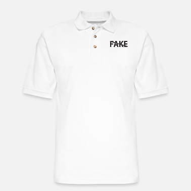 Fake Not Fake - Men's Pique Polo Shirt