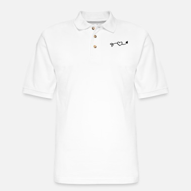 Lovely Love arrow - hand drawn comic style, falling in - Men's Pique Polo Shirt