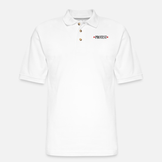Protest Polo Shirts - protest - Men's Pique Polo Shirt white