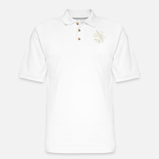 Abstract Polo Shirts - Jazz - Men's Pique Polo Shirt white