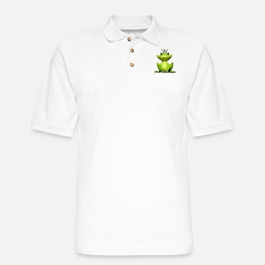Frog King Frog King | Frog Prince | Crown - Men's Pique Polo Shirt