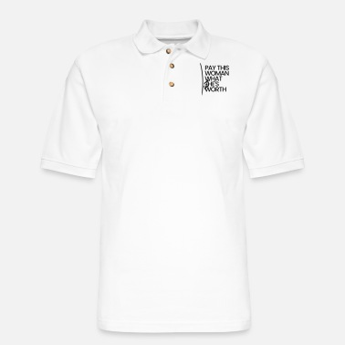 Pay PAY THIS WOMAN - Men's Pique Polo Shirt