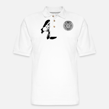 American Indian indian - Men's Pique Polo Shirt