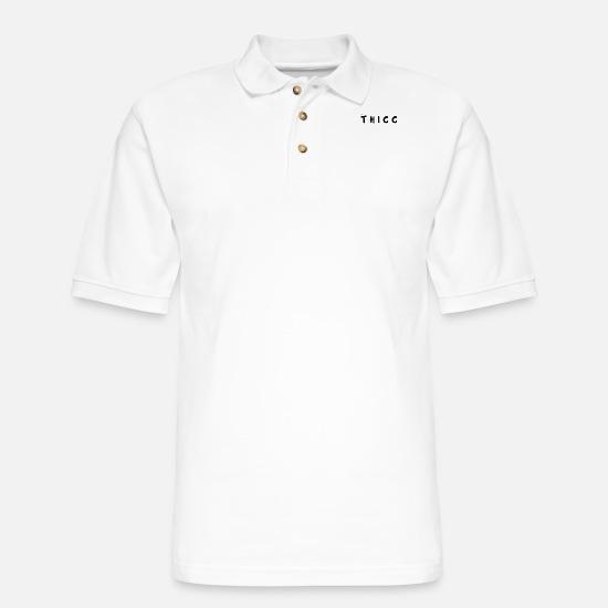 THICC Meme Men's Pique Polo Shirt | Spreadshirt