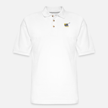 Lazy Lazy Weekend Sleeping Penguin - Men's Pique Polo Shirt