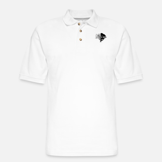 Tree Polo Shirts - Tree of Life & Death - Men's Pique Polo Shirt white