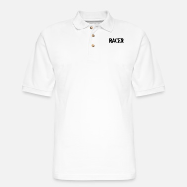 Bike Racer racer with shape of a racer bike - Men's Pique Polo Shirt