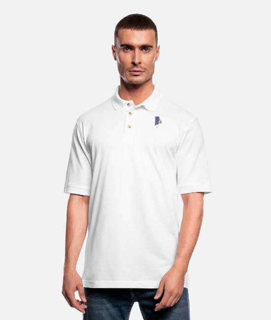 Donut Polo Shirts - Phish Fishman Donut Rhode Island Phanart - Men's Pique Polo Shirt white