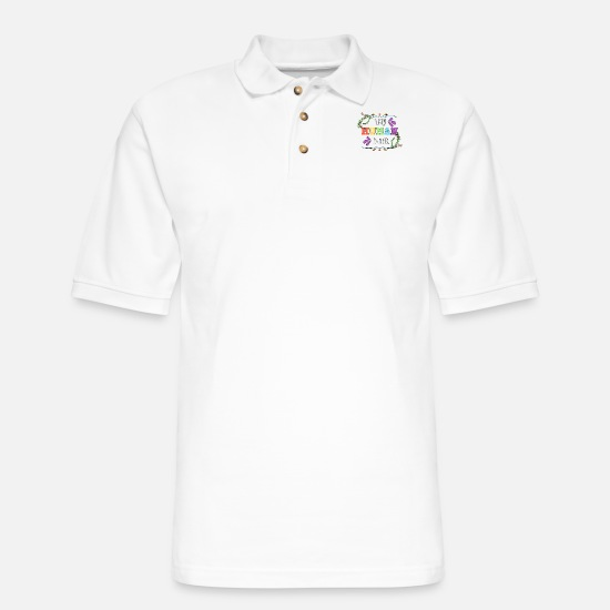 Students Polo Shirts - Tiny Human Tamer - Men's Pique Polo Shirt white