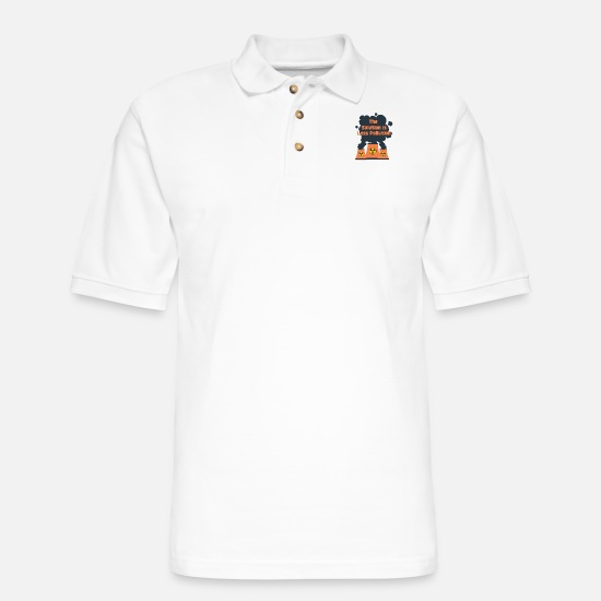 Save Polo Shirts - Pollution - Men's Pique Polo Shirt white