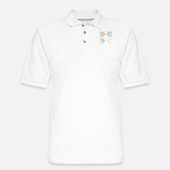 Gift Idea Polo Shirts - Gambling - Men's Pique Polo Shirt white