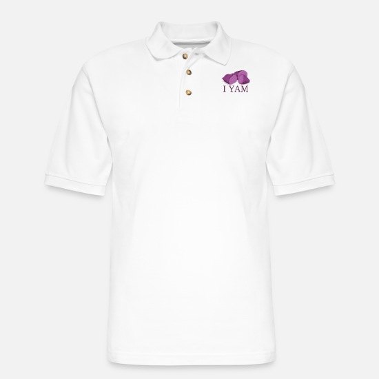 Boyfriend Polo Shirts - I Yam matching set halloween costume for couples - Men's Pique Polo Shirt white