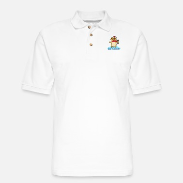 Snow LET IT SNOW CAT SINGING IN THE SNOW - Men's Pique Polo Shirt