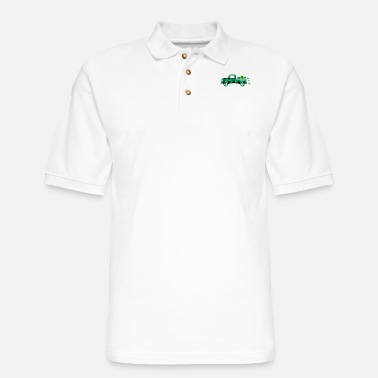 Shamrock St. Patricks Day Pickup Retro With Shamrocks Class - Men's Pique Polo Shirt