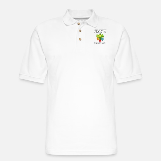 Gardening Polo Shirts - plant flower garden gardener gardening - Men's Pique Polo Shirt white
