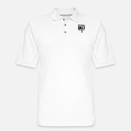 Quilting Polo Shirts - Quilt QuilTS Quilters Team Quilter Quilting - Men's Pique Polo Shirt white