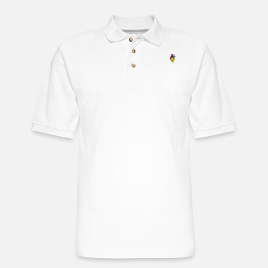 Communism Pan Pride LGBTQ Retro Pansexual Heart - Men's Pique Polo Shirt