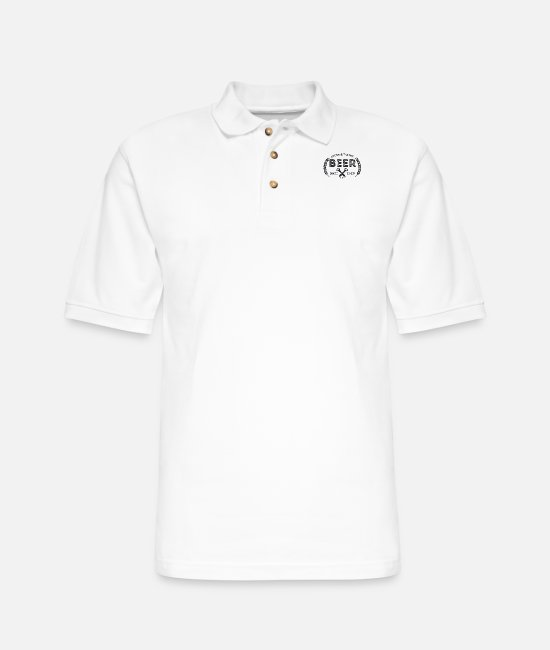 Brewery Polo Shirts - Lover And Taster of Beer! Craft Beer and Brewery - Men's Pique Polo Shirt white