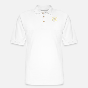 Weekend Camera Strokes gift for Photographer - Men's Pique Polo Shirt