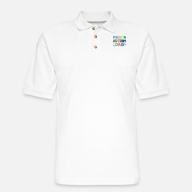 Puzzle Autism Dad Father Autistic Child Awareness Day - Men's Pique Polo Shirt