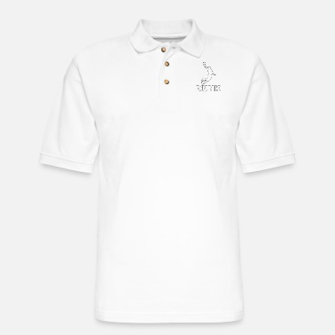 Dunking Dunk it! Basketball Player Dunking - Men's Pique Polo Shirt