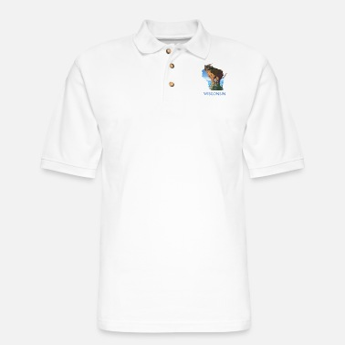 Wisconsin - Men's Pique Polo Shirt