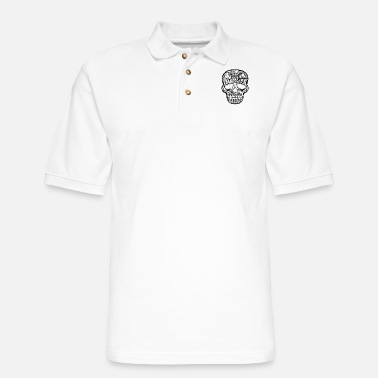 Skull Sugar Skull - Men's Pique Polo Shirt