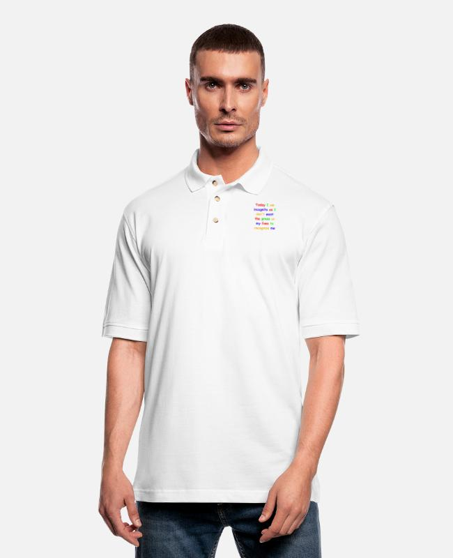 Laughter Therapy Polo Shirts - Today I am incognito - Men's Pique Polo Shirt white