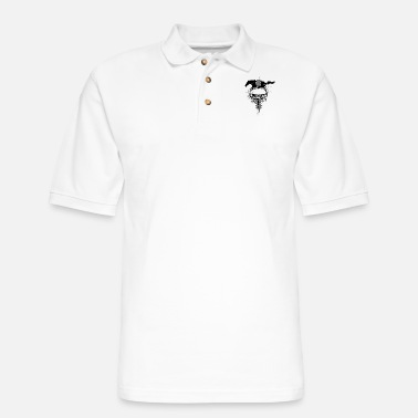 auto_mustang_1_bw - Men's Pique Polo Shirt