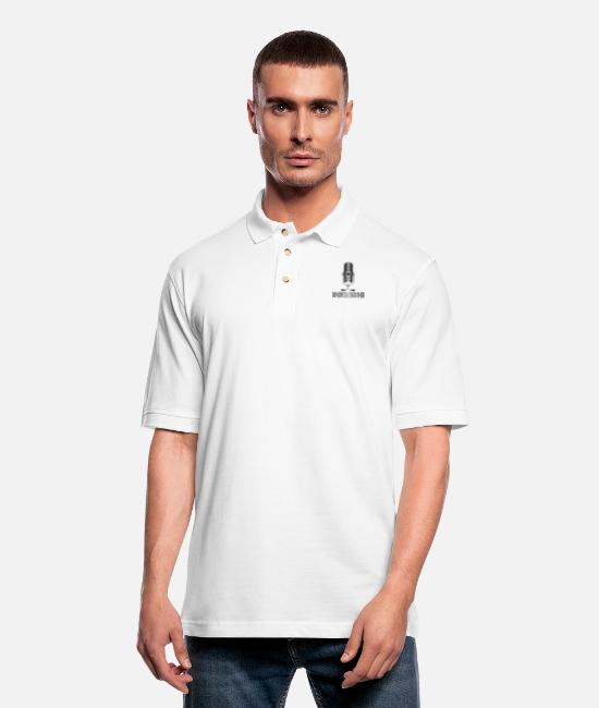 American Polo Shirts - Underground Music - Men's Pique Polo Shirt white