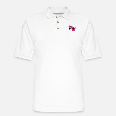 Pure Michigan my home in the pink - Men's Pique Polo Shirt