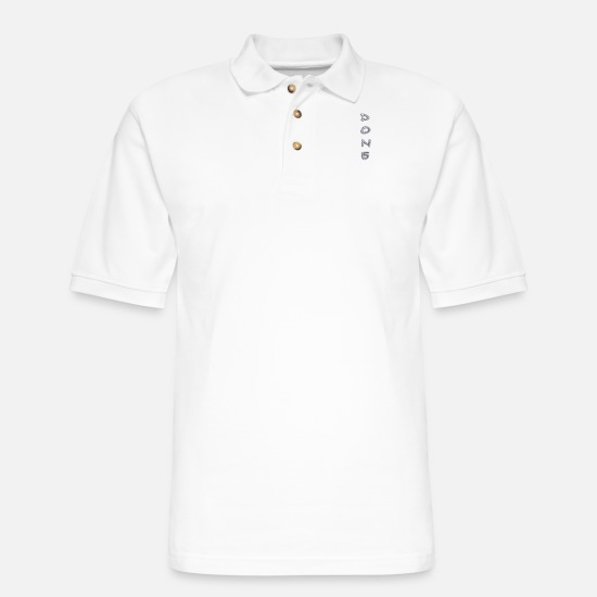 Typography Polo Shirts - done - Men's Pique Polo Shirt white