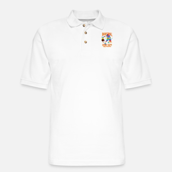 Matching Polo Shirts - Champion Basketball, Color Splash - Men's Pique Polo Shirt white