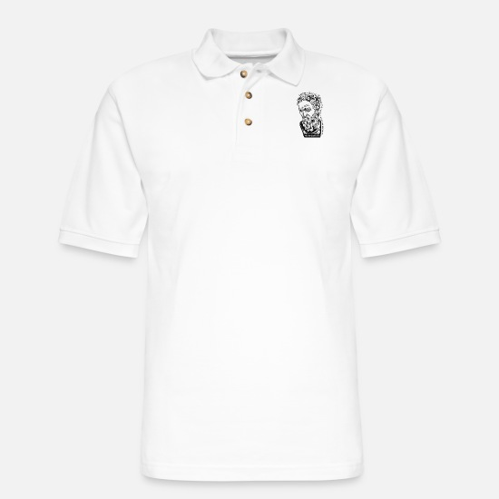 Saw Polo Shirts - I saw the angle - Men's Pique Polo Shirt white